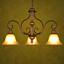 Antique Bronze 3-light Linear Chandelier(0810-2027-3D)