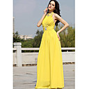 A-line High Neck Floor-length Sleeveless Chiffon Quick Delivery Dress (OFGH0318)