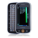 V19 Dual Card Dual Camera Dual Band 3.0 Inch QWERTY Keypad Touch Srceen Slide Cell Phone Black (2GB TF Card)