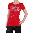 maniche corte scollo tondo logo stampato scheggia t-shirt donna (4201bc003-0813)