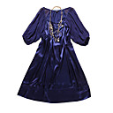 Half Sleeves Round Neckline Silk Satin Women's Dresses(1802BC1007-0741)
