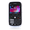 E77 tastiera qwerty wifi java quad band bluetooth doppia scheda dual fm fotocamera del telefono cellulare tv nero (2GB TF card) (sz05151034)