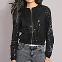 Long Sleeves Round Neckline Sequins Short Jackets Women's Jackets(0102bc004-0497)