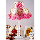 Hot Pink Jacquard Lace Table Lamp(0836-MQY-048)