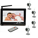 Wireless Baby Monitor Set (2.4GHz 7-Inch Viewer + 4 Wireless Night Vision Cameras)