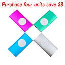 4GB Fashion Design MP3 Player With Clip / 4 Color 4 PCS Per Package (HB008)