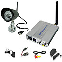 2.4GHz Wireless Night Vision Color Security Camera System with Microphone
