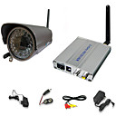 2.4GHz Wireless Color Security Camera System with Microphone and 45m Night Vision
