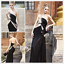 Sheath / Column Strapless Floor-length Sleeveless Chiffon Quick Delivery/ Evening Dress (OFGC393)