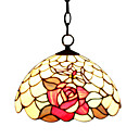 Red Rose Tiffany Pendant Light (0864-HZ1253)