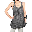 100% Cotton Animals Zebra Patterns Loose Sleeveless Round Neckline Vest / Women's Vests (8503BD002-0857)