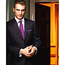 Single-Breasted 2 Button Side-vented Notch Lapel Wool Groom Wear/ Tuxedo/ Men's Suit Jacket and Pants(PMBZXZ0035)