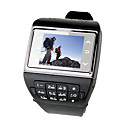 DS16 Quad Band with Bluetooth Compass Touch Screen Watch Cell Phone Black (2GB TF Card)