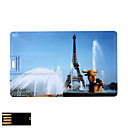 Eiffel Tower Pattern Credit Card USB Flash Drive (2GB to 16GB)