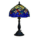Tiffany-style Red Dragonfly Blue Table Lamp(0923-T16)