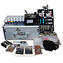 Tattoo Kit Pro 5 Guns Power Tip Needles Skin Ink Supply (0359-5.26-19)