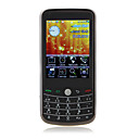 w8900i dual quad band scheda wifi Java 3.0 pollici digitale bluetooth tv fm touch screen del telefono cellulare nero (2GB TF card) (sz05630068)