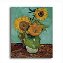 Stretched Canvas Handmade Sunflower First Version Painting by Vincent Van Gogh 0192-YCF103164