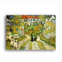 Stretched Canvas Handmade Stairway at Auvers Painting by Vincent Van Gogh  0192-YCF103194