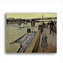 Stretched Canvas Handmade Le Pont de Trinquetaille in Arles,1888 Painting by Vincent Van Gogh 0192-YCF103186