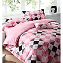 4 Pc Luxurious Cotton stripe Printing Duvet Cover Set(0580 -0S101005S)