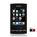 F095 Dual Card Dual Camera Quad Band TV Flat Touch Screen Cell Phone Black(2GB TF Card)