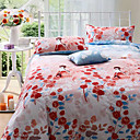 4 Pc Luxurious Cotton stripe Printing Duvet Cover Set(0580 -0S404003L)