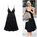 paris hilton stijl / topje v hals drfess / dames jurken (ff-1802bg006-0736)