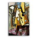 Handmade Guitar on a Chair Painting by Juan Gris(0192-YCF103136)
