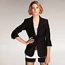 Long Sleeves Lapel One Button Closured Longline Blazer / Women's Blazer (FF-A-BI0853005)