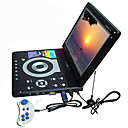 12.3-inch Portable DVD Player with TV Function, USB Port, 3-in-1 Card Reader, Games (TRA535)