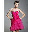 Clearance!A-line Sweetheart Short/ Mini Taffeta Tulle Cocktail Dress