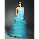 Tulle Trumpet/ Mermaid One Shoulder Floor-length Evening Dress inspired by Kate Beckinsale at Cannes Film Festival