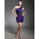 Elastic Silk Like Satin Sheath/Column One Shoulder Short/Mini Cocktail Dress