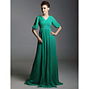 Chiffon Sheath/Column V-neck Sweep/Brush Train Evening Dress inspired by Gabourey Sidibe at Golden Globe