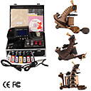 Damas fait  la main tatouage 3 machines kit avec alimentation suprieure conduit