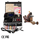 Top Quality Damascus Hand-made 1 Tattoo Machines Kit with Superior LED Power Supply (LY132)