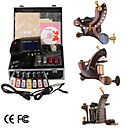 damas de premire qualit fabriqus  la main tatouage 3 machines kit avec alimentation suprieure conduit (ly168)