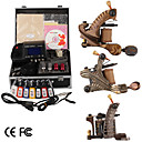 damas de premire qualit fabriqus  la main tatouage 3 machines kit avec alimentation suprieure conduit (ly191)