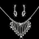 Gorgeous CZ Cubic Zirconia Wedding Bridal Jewelry Set(Including Necklace,Earing)(0986-S008)