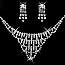 Gorgeous CZ Cubic Zirconia Wedding Bridal Jewelry Set(Including Necklace,Earing,Bracelet)(0986-S007)