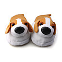 lindo perro suave cubierta de invierno zapatillas de algodn (blanco)