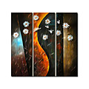 Stretched 3-pc Handmade Abstract Painting Set (0192-YCF103794)