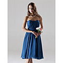 Clearance!Chiffon A-line Sweetheart Knee-length Bridesmaid Dress