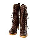 PU Leather Upper High Heels Short Boot Lace Up Fashion Shoe (1131-1139-1)