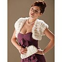 Short Sleeves Rabbit Fur Special Occasion Jacket/ Wrap