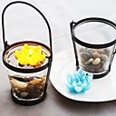 Eternal Love Flowers Floating Candle in Glass Jar(Assorted Colors)