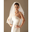 2 Layers Elbow Length Wedding Veil (TS025)