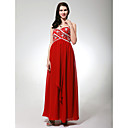 Chiffon Matte Satin Empire Sweetheart Sweep/ Brush Train Evening Dress inspired by Cannes Film Festival