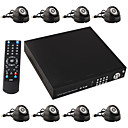 8 Channel IR Night Vision Real-time Network Security Cameras DVR Surveillance DVR